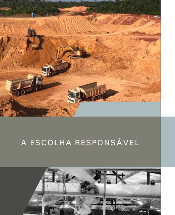 Mineração, energia, construção civil, indústria de transformação, florestal